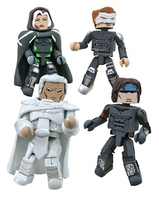 Age of X Marvel Minimates Box Set - Rogue (a.k.a. Legacy), Cyclops (a.k.a. Basilisk), Magneto & Gambit