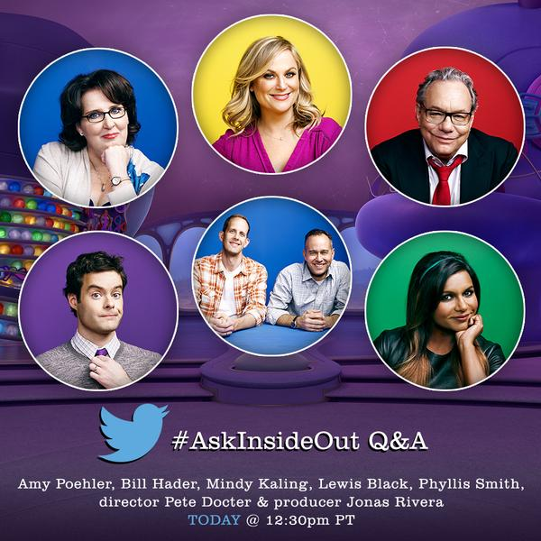 Inside Out 2015 Film: Summary Of The Q&A Twitter Session With The Cast Of