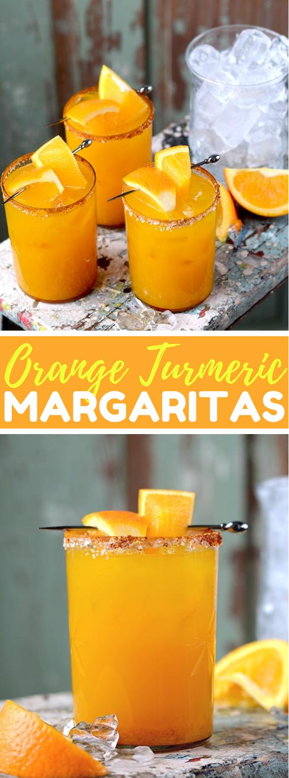 Orange Turmeric Margaritas #drinks #cocktails