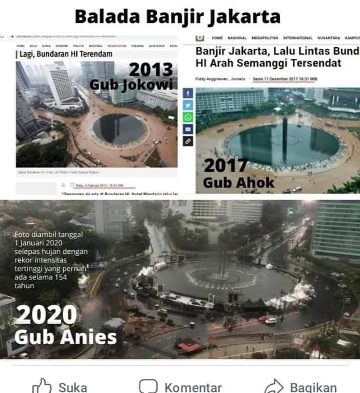Warga Jakarta: Anies Jauh Lebih Baik dari Ahok Soal Atasi Banjir