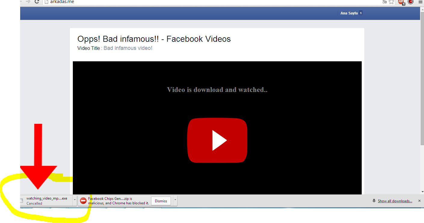 Video Mp4 Watch Facebook Virus: Facebook Virus [Oh my god
