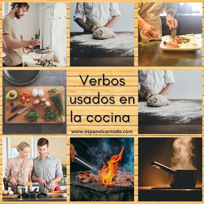 Verbos usados para cocinar