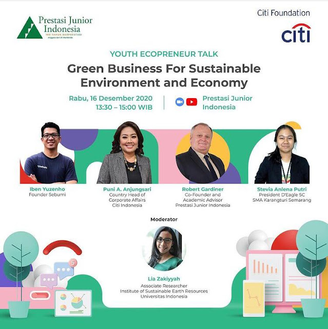 """Youth Ecopreneur Talk bertema """"Green Business for Sustainable Environment and Economy""""."""
