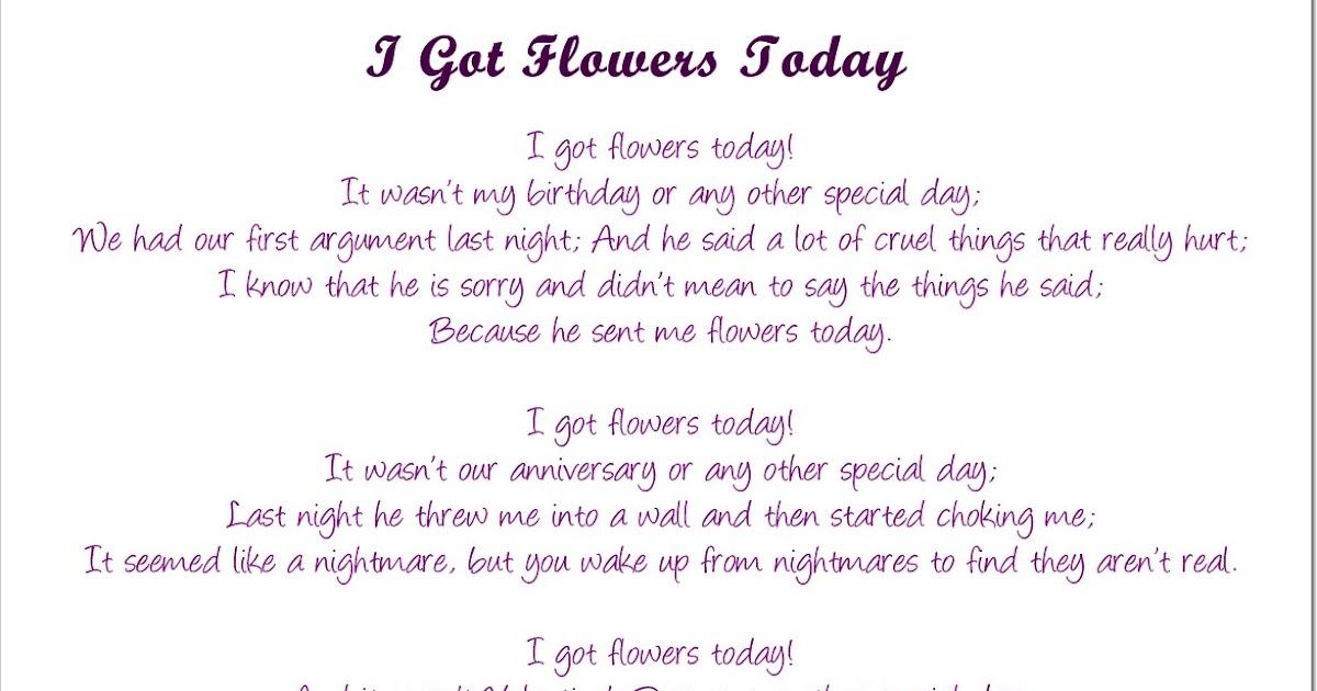 i got flowers today