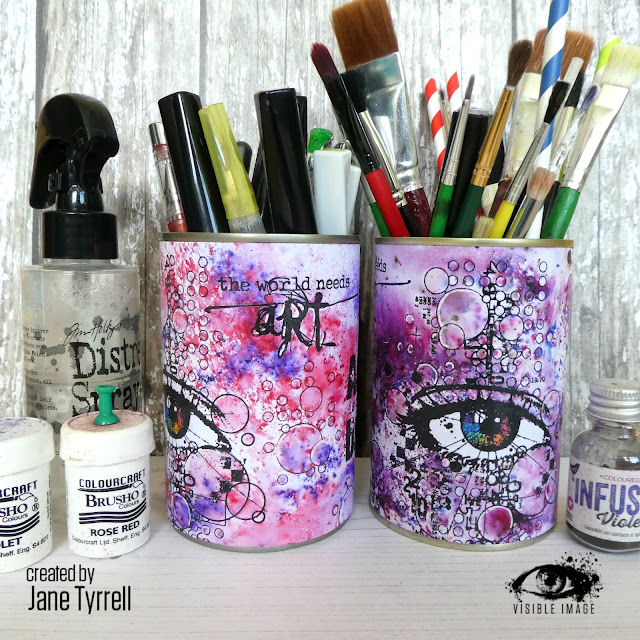 craft pots | handmade | stamping | altered tins