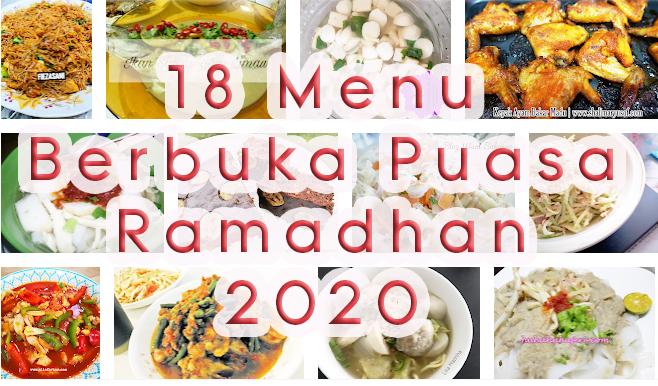 18 Menu Berbuka Puasa Menarik Sepanjang Ramadhan 2020