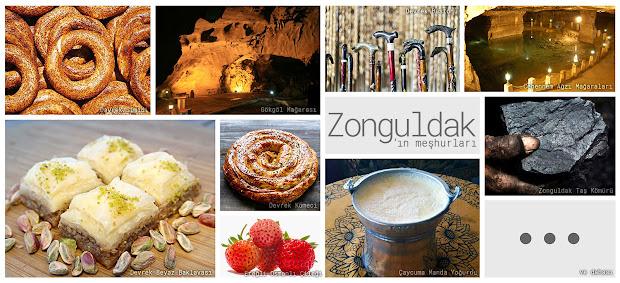 Zonguldak'ın meşhur şeylerini gösteren resimlerden oluşan kolaj