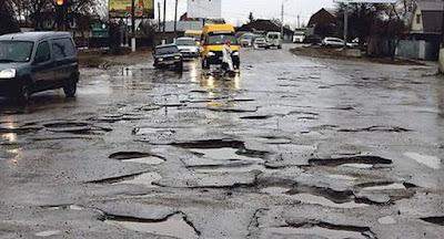 Українські дороги – одні з найгірших у світі