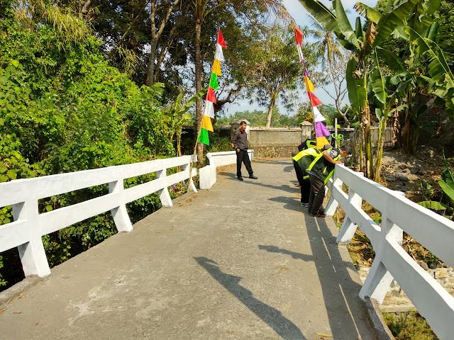 pengukuran ketinggian jembatan kertosono jetis