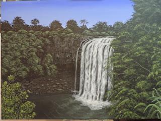 Cascada, Jorge Marin Pintor Colombiano