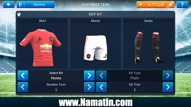 Jersey Dream League Soccer Manchester United Home