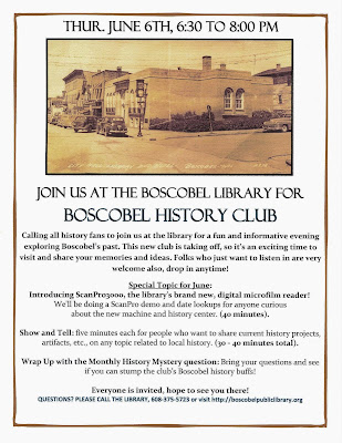 Boscobel History Club meets the first Thursday of every month