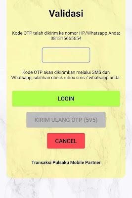 Transaksi Pulsaku Mobile Partner