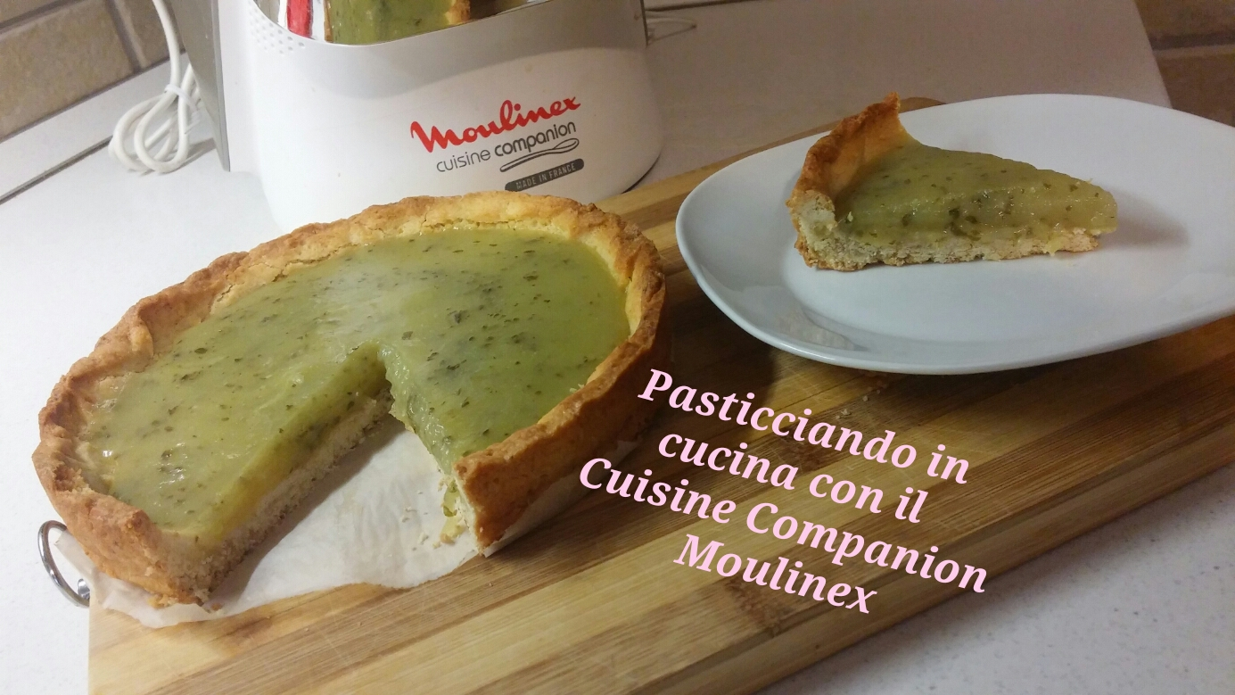 pasticciando in cucina con il cuisine companion moulinex crostata al limone e basilico. Black Bedroom Furniture Sets. Home Design Ideas