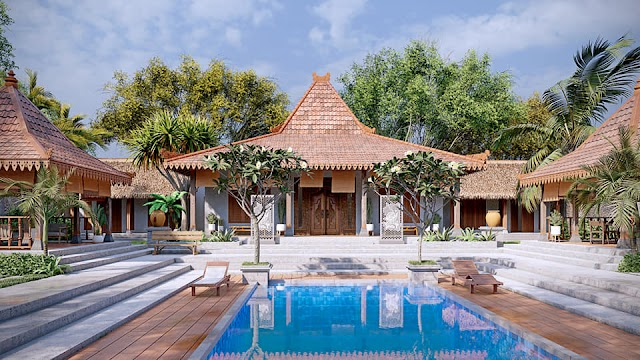 Resort đậm chất Bali - Indo kèm file su free