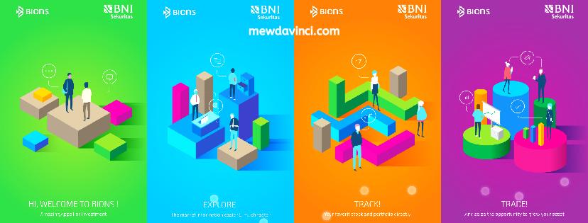 tampilan awal BIONS, aplikasi jual-beli saham BNI Sekuritas 2019