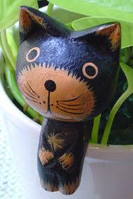My avatar - wooden cat