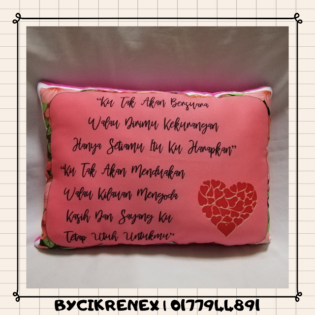 Bantal Bergambar @ Printed Pillow , Idea untuk anda hadiahkan pada yang tersayang