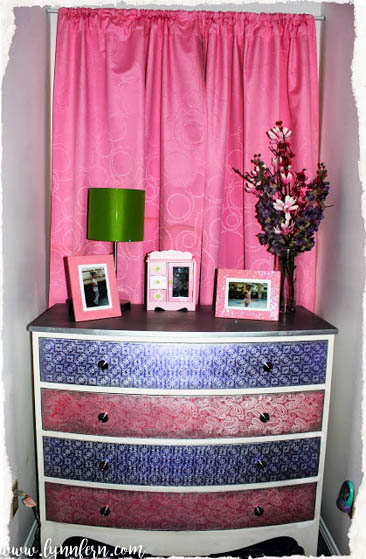 pink and purple girls dresser