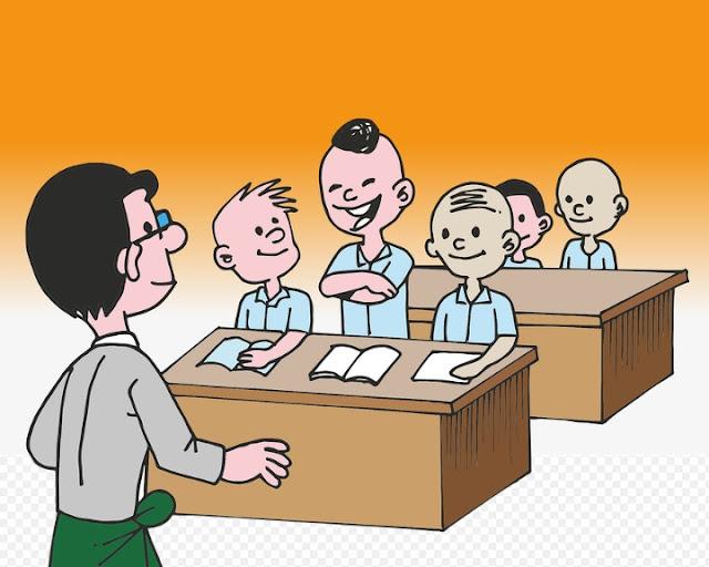 students, classroom, student's cartoon, class activity