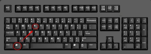 Windows + R keys