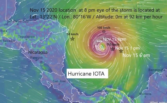 IOTA Nov 15 2020 location  at 8 pm