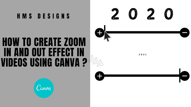 How to create Zoom In and Out effect in Videos using Canva ?