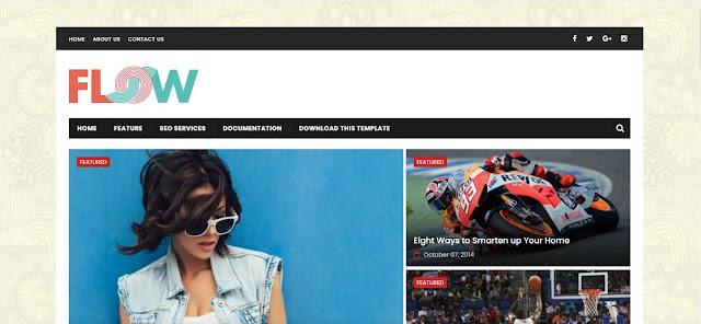 Download Free Flow Magazine - Responsive Magazine Blogger / Blogspot Theme