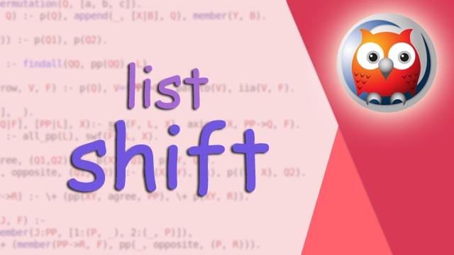 كيفية عمل shift لاول رقم في list بلغة برولوغ   shift in prolog program