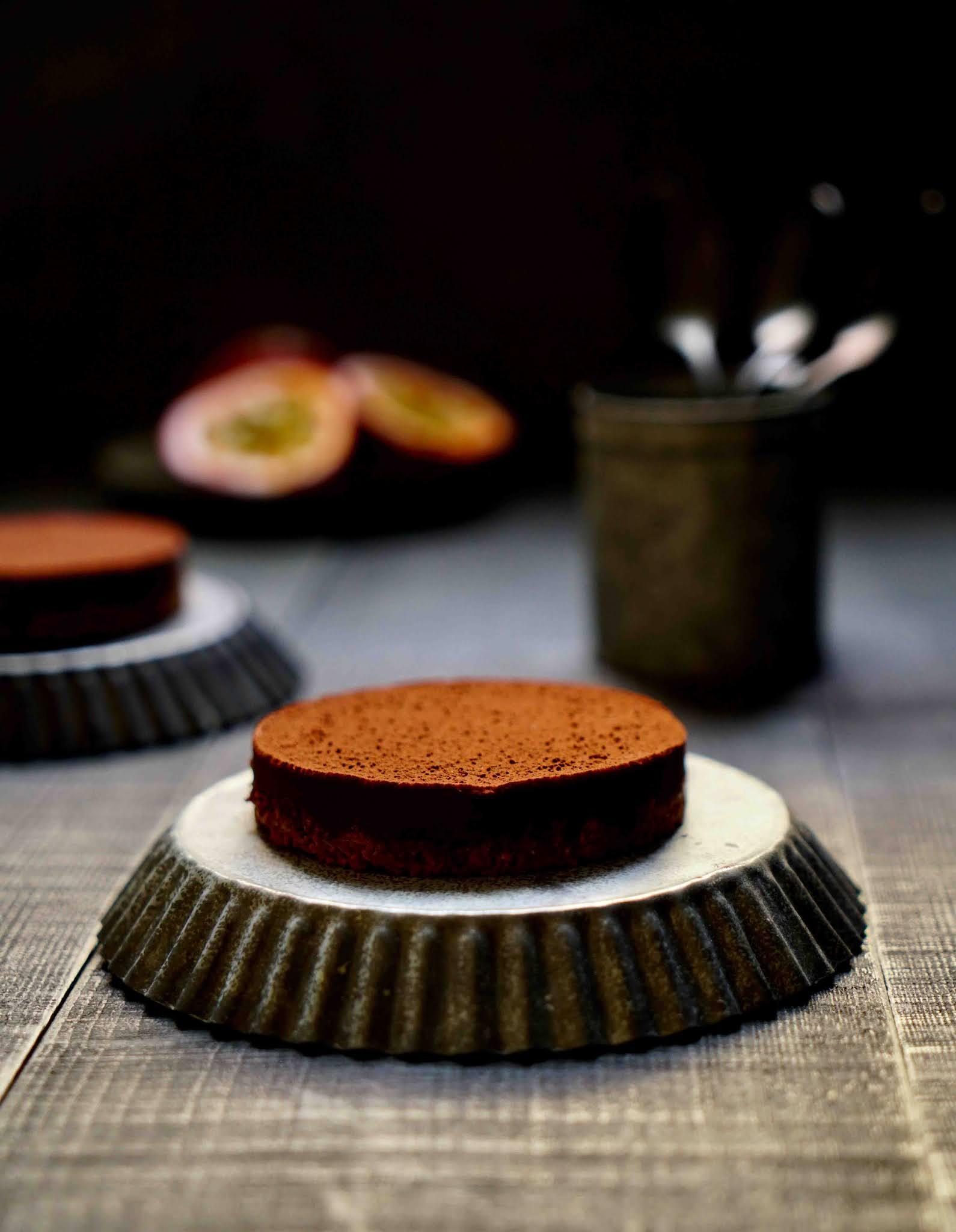 dessert sans cuisson , dessert au chocolat , croustillante