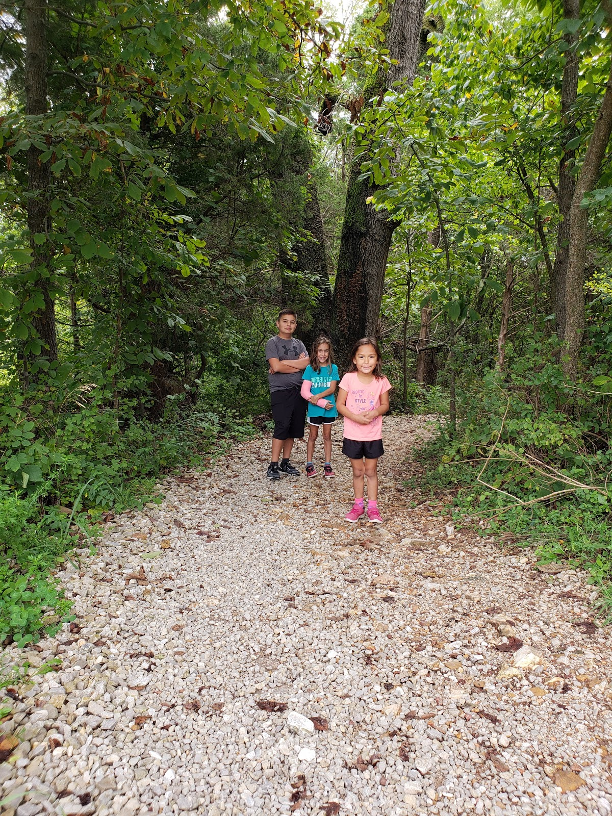 walking on nature trail