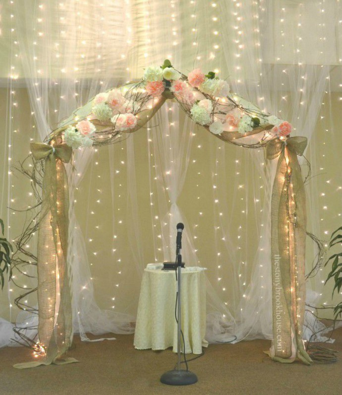 Full Wedding Arch with Coffee Filter Peonies