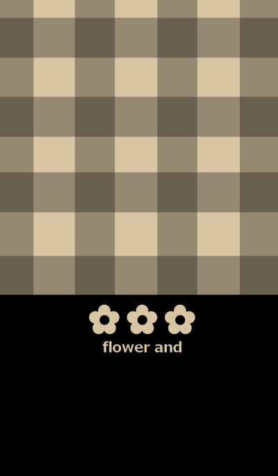 Flower and check pattern from japan