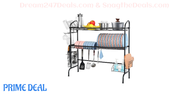 20%OFF 2 Tier Stainless Steel Large Over Sink Dish Drying Rack