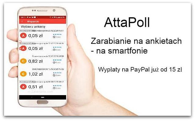 Zarobki w AttaPoll(wypłacalne strony, ankiety).