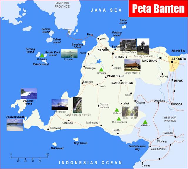 Gambar Peta Banten