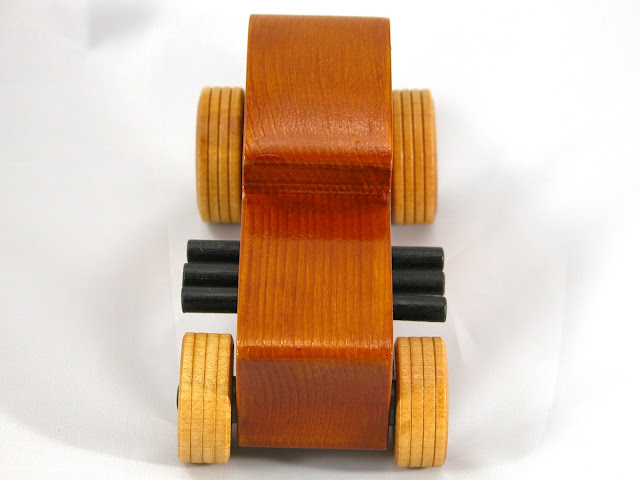 Top Front - Wood Toy Cars - Wooden Cars - Wood Toys - Wooden Car - Wood Toy Car - Hot Rod - 1932 Ford - 32 Deuce Coupe - Little Deuce Coupe - Roadster - Race Car