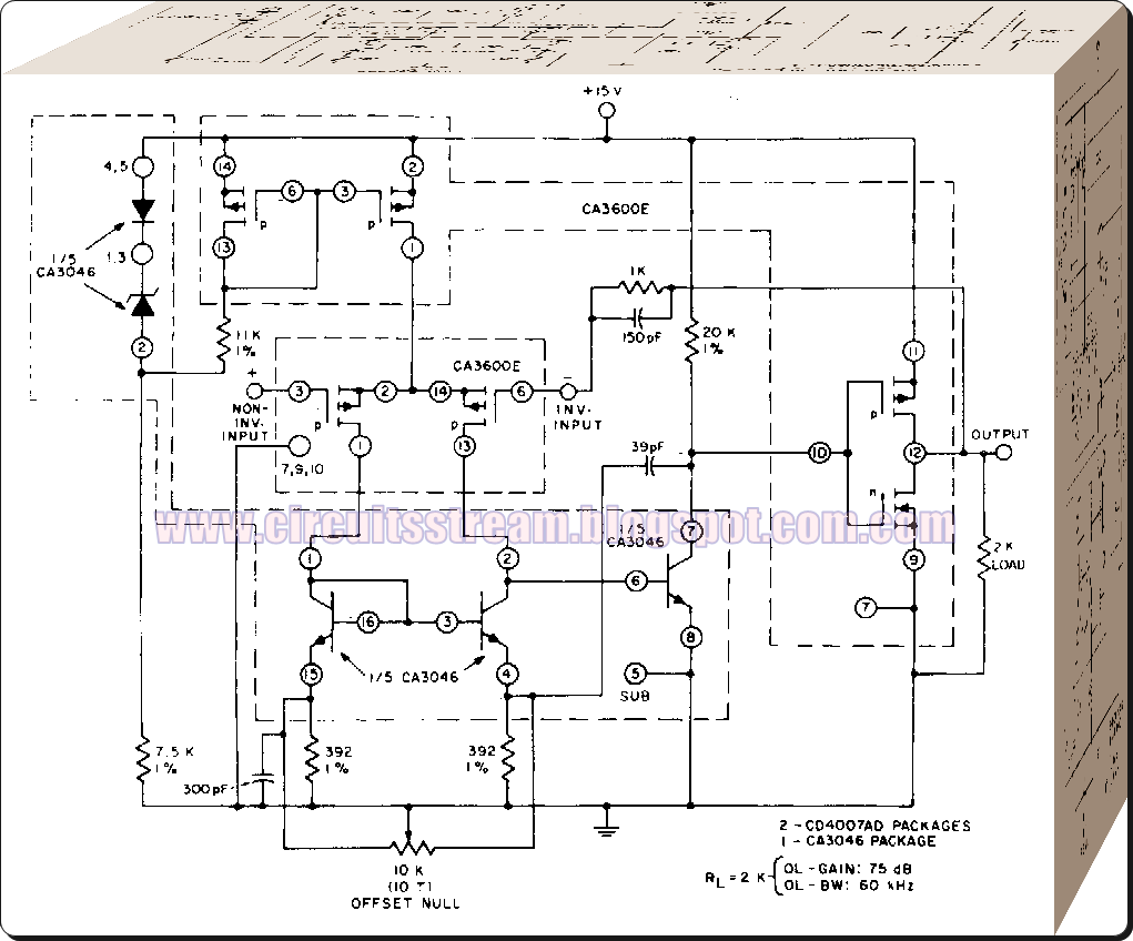Best Amplifier for signal supply Circuit Diagram