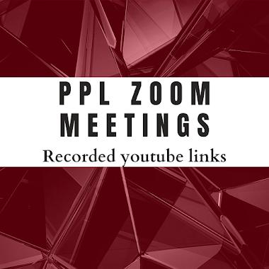 PPL Zoom Meetings