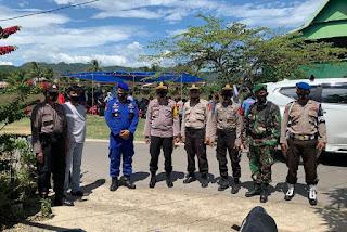 Hari ke Tujuh Kampanye, Kapolres Pangkep Pantau personil Pengamanan di 2 titik