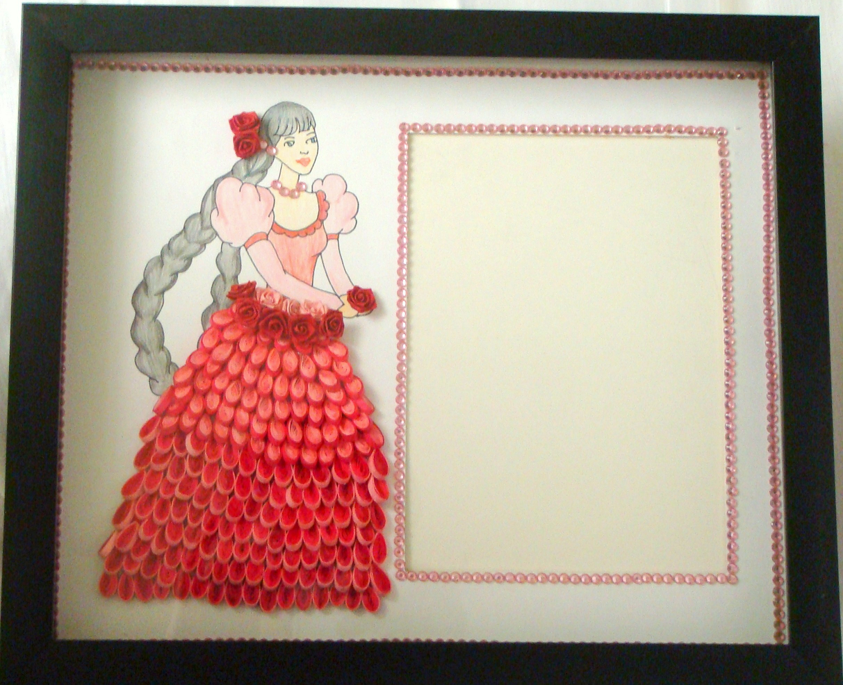 Latest quilling photo frame designs online 2015 quilling for Cute designs for paper