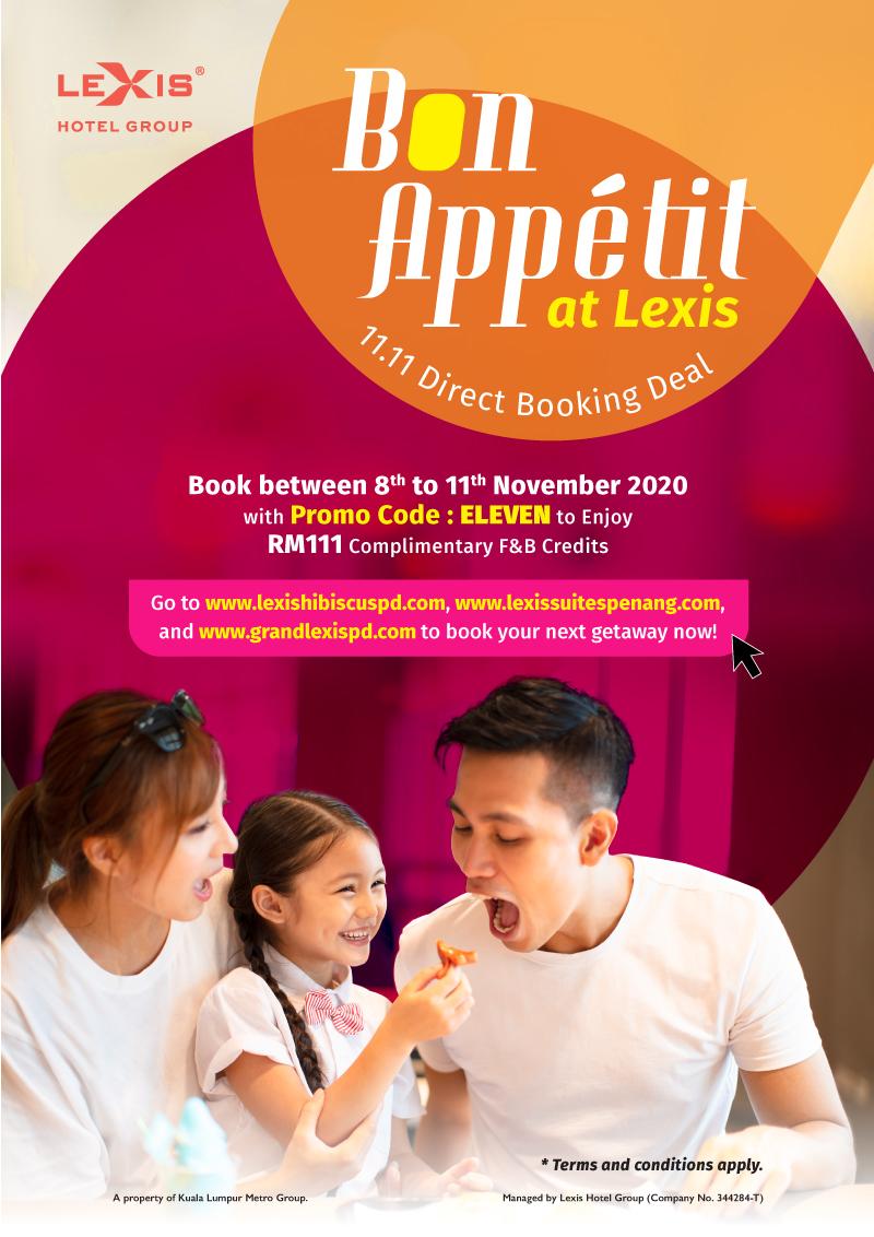 Lexis Hotel - Bon Appetit at Lexis Campaign