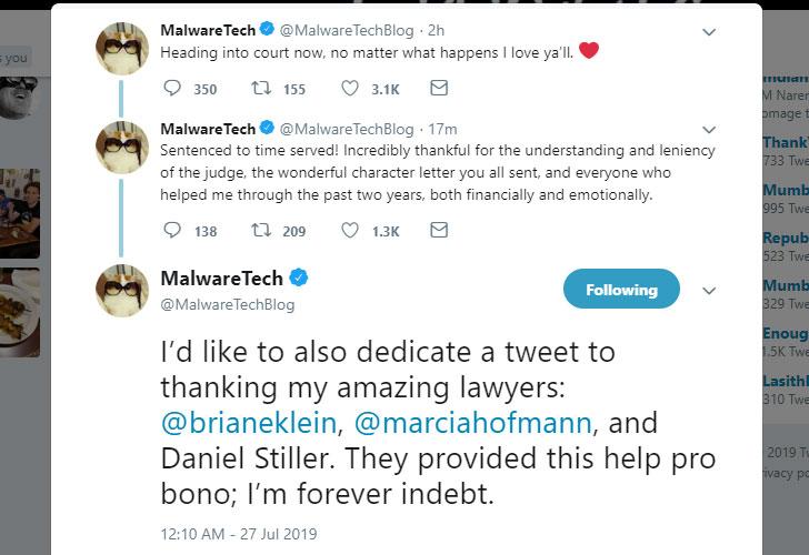 Marcus Hutchins Malwaretech