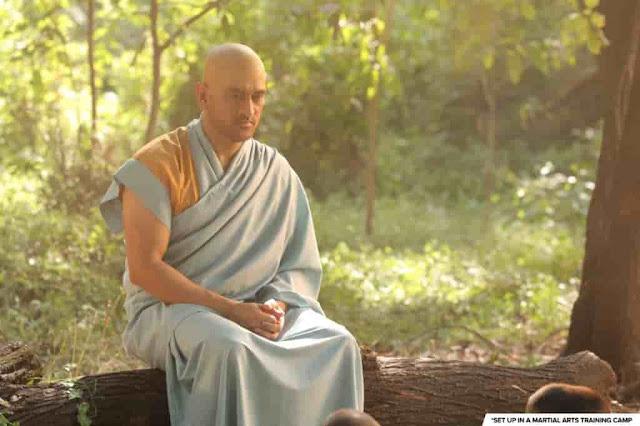 mahandra singh dhoni new monk look