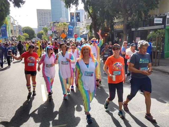 Unicorn Squad Running Bay to Breakers