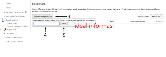 Cara Menghapus URL Blog Gambar Kedua