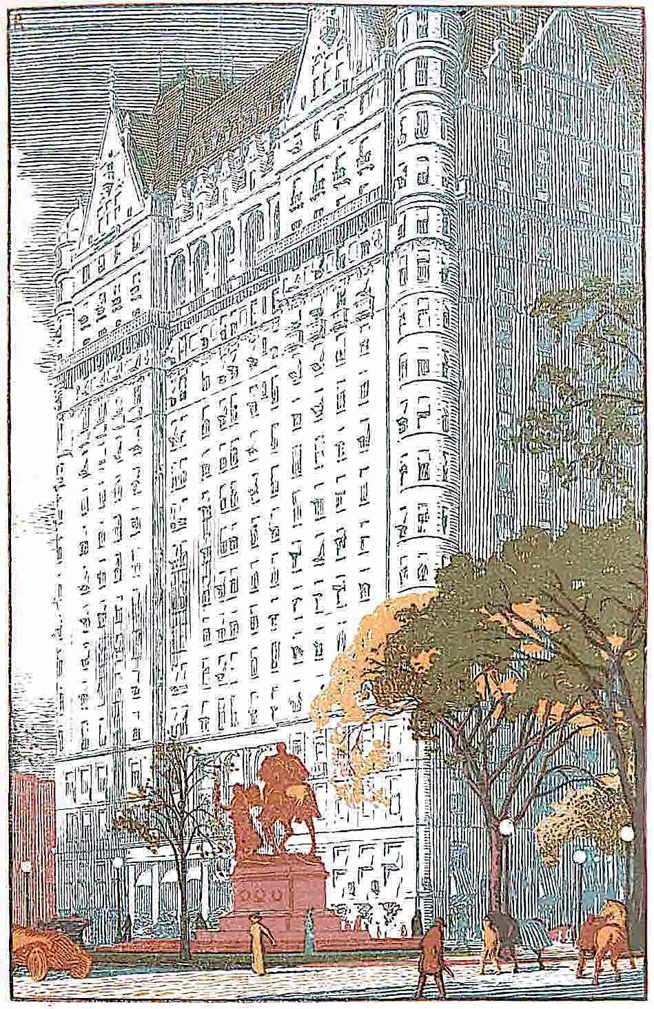 a Walter P. Eaton illustration of a giant building