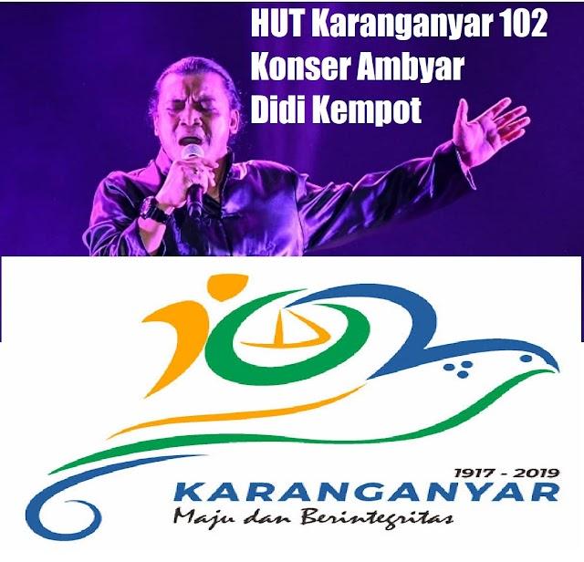 Konser Ambyar Didi Kempot Karanganyar HUT 102