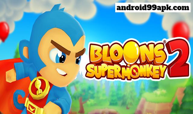 لعبة Bloons Supermonkey 2 v1.8.2 مهكرة بحجم 105 ميجايايت للأندرويد