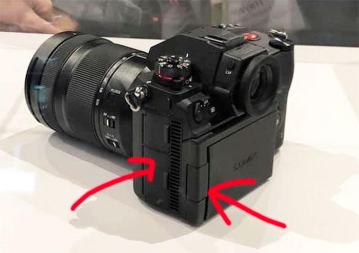 Прорези на корпусе камеры Panasonic Lumix S1H